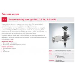 Pressure-reducing valve type CDK, CLK, DK, DLZ and DZ