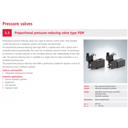 Proportional pressure-reducing valve type PDM