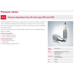 Pressure-dependent shut-off valve type DSV and CDSV
