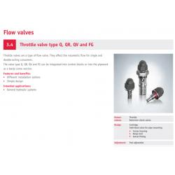 Throttle valve type Q, QR, QV and FG