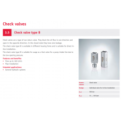 Check valve type B
