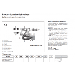 Proportional valves & cartridges RZMO-A-010