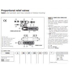 Proportional relife valves RZMO-A-30, HZMO-A-030