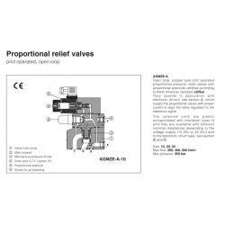 Proportional valves & cartridges AGMZE-A