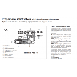 Proportional relief valves with integral pressure transducer RZMO-R-010