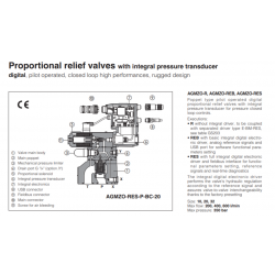 Proportional relief valves with integral pressure transducer AGMZO-R