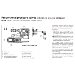 Proportional pressure valves with remote pressure transducer REB-N, RES-N