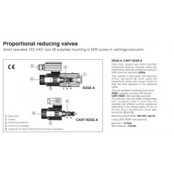 Proportional valves & cartridges RZGE-A, CART RZGE-A