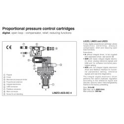 Proportional pressure control cartridges LIRZO-A