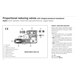 Proportional reducing valves with integral pressure transducer RZGO-R-010
