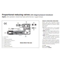 Proportional reducing valves with integral pressure transducer RZGO-R-033
