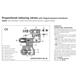 Proportional reducing valves with integral pressure transducer AGRCZO-R