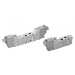 Zawory sterowane elektrycznie 5/2 bistabilne serii Flowmatik