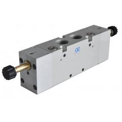 Zawory sterowane elektrycznie 5/3 CO z pilotem zewnętrznym serii AZ Pneumatica