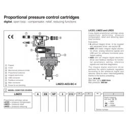 Proportional pressure control cartridges LICZO-A
