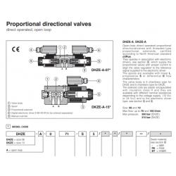 Proportional directional valves DHZE-A, DKZE-A