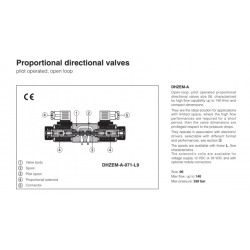 Proportional directional valves DHZEM-A