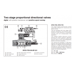 Two stage proportional directional valves DPZO-T