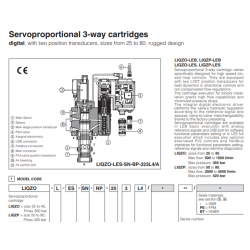 Servoproportional 3-way cartridges LIQZO-L, LIQZP-L