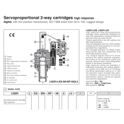 Servoproportional 2-way cartridges high response LIQZH-L