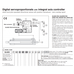 Digital servoproportionals with integral axis controller DHZO-T, DKZOR-T, DLHZO-T, DLKZOR-T, DPZO-L