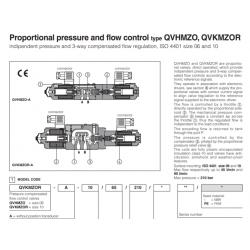 Proportional pressure and flow control type QVHMZO, QVKMZOR QVHMZO-A, QVKMZOR-A
