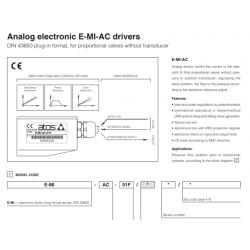 Analog electronic E-MI-AC drivers E-MI-AC