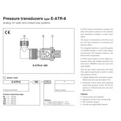 Pressure transducers type E-ATR-8