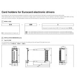 Card holders for Eurocard electronic drivers E-K-32M, E-K-64M