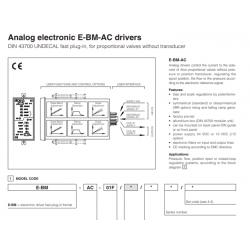 Analog electronic E-BM-AC drivers E-BM-AC