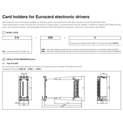 Card holders for Eurocard electronic drivers E-ME-T