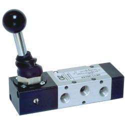 Zawory mechaniczne AZ 5/2 monostabilne z dźwignią