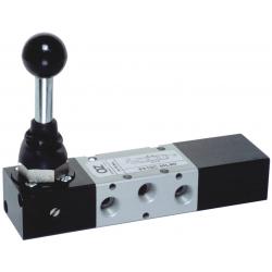 Zawory mechaniczne AZ 5/3 CC monostabilne z dźwignią
