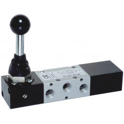 Zawory mechaniczne AZ 5/3 CO monostabilne z dźwignią