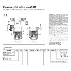 Pressure relief valves type ARAM REM