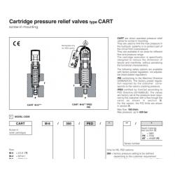 Cartridge pressure relief valves type CART