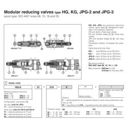 Modular reducing valves type HG, KG, JPG-2 and JPG-3 HG, KG, JPG