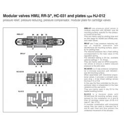 Modular valves HMU, RR-3/*, HC-031 and plates type HJ-012 RR-3