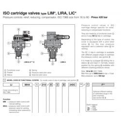 ISO cartridge valves type LIM*, LIRA, LIC* LIR