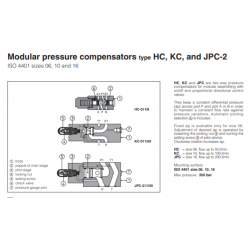 Modular pressure compensators type HC, KC, and  JPC-2 HC, KC, JPC