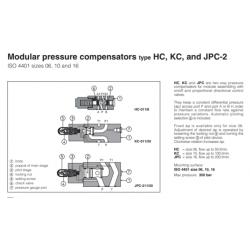 Modular pressure compensators type HC, KC, and  JPC-2 HC, KC, JPC