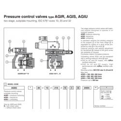 Pressure control valves type AGIR, AGIS, AGIU AGIS