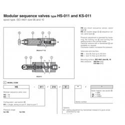 Modular sequence valves type HS-011 and KS-011 HS, KS