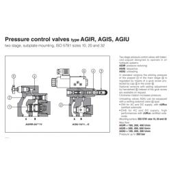 Pressure control valves type AGIR, AGIS, AGIU