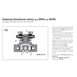 Solenoid directional valves type DPHI and DPHE