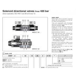 Solenoid directional valves Pmax 420 bar DHEP, DKEP
