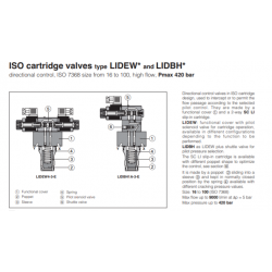 ISO cartridge valves type LIDEW* and LIDBH*  LIDEW, LIDBH