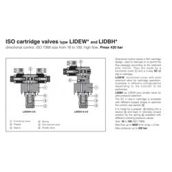 ISO cartridge valves type LIDEW* and LIDBH*  LIDEW, LIDBH