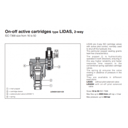 On-off active cartridges type LIDAS , 2-way LIDAS, LIDASH