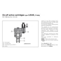 On-off active cartridges type LIDAS , 2-way LIDAS, LIDASH